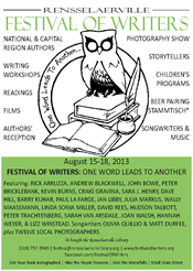 rensselaerville festival of writers poster 2013