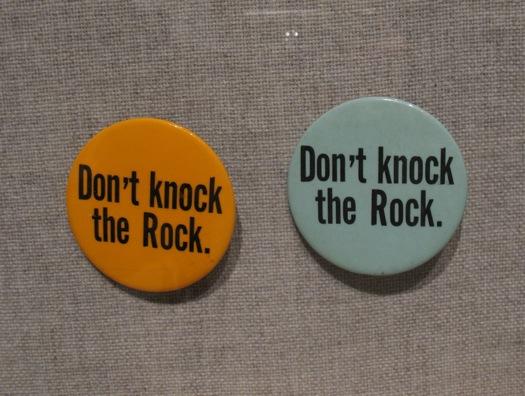 Rockefeller campaign button don't knock