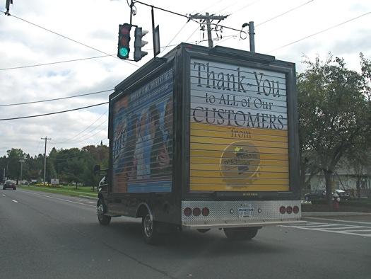 rolling billboard truck