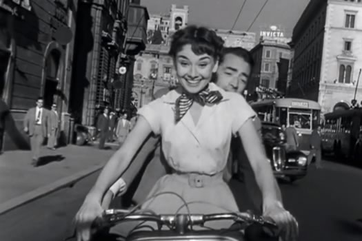 roman holiday vespa scene