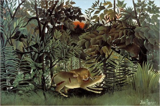 Rousseau's Hungry Lion