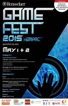 rpi gamefest 2015 poster