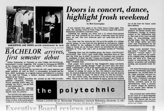rpi the polytechnic 1967 the doors