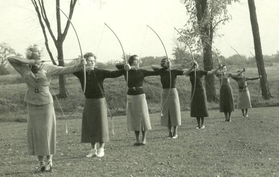 sage college 1937 archery class