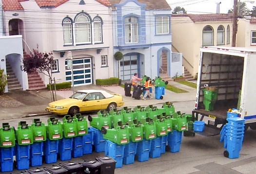 San Francisco garbage cans