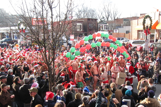 santa speedo sprint 2011 start