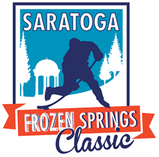 saratoga springs frozen classic pond hockey logo