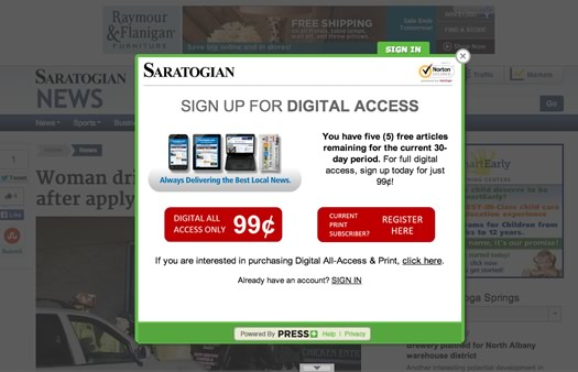 saratogian paywall notice