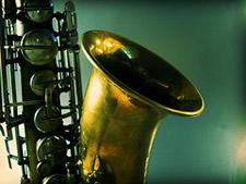 saxophone closeup