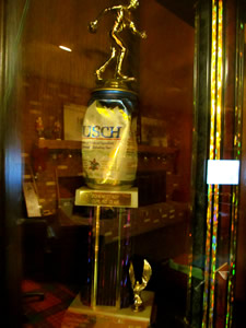 schenectady curling club beer can trophy