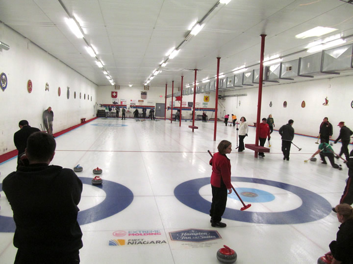 Taking In A Game At The Schenectady Curling Club All