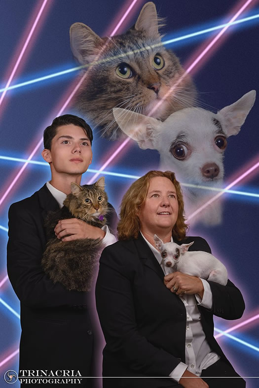 schenectady high school laser cat dog photo