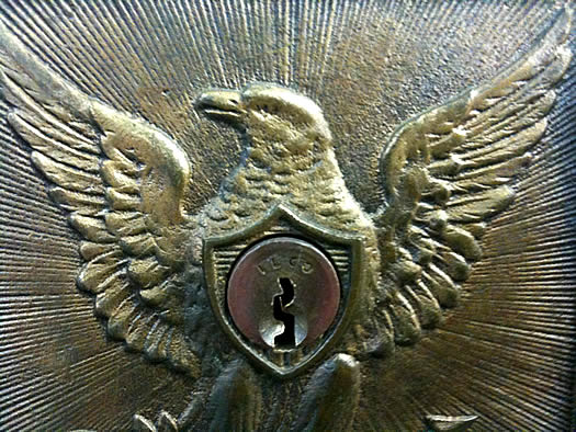 schenectady post office box eagle closeup