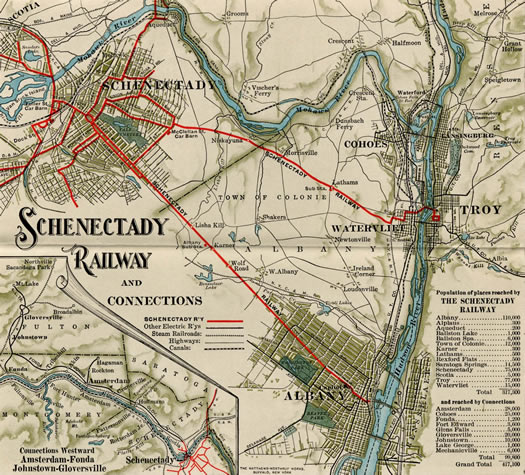 schenectady railway map clip 1910
