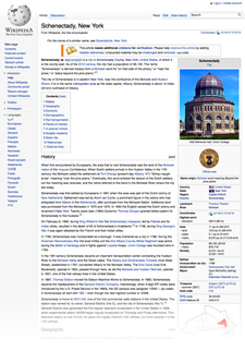 schenectady wikipedia entry screengrab