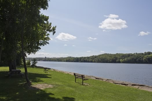 Schodack Island State Park river view