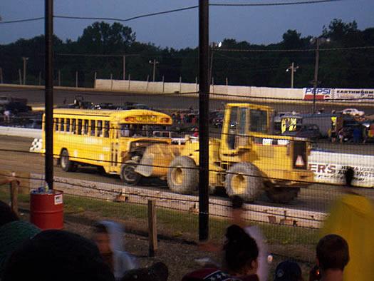 school bus demo race