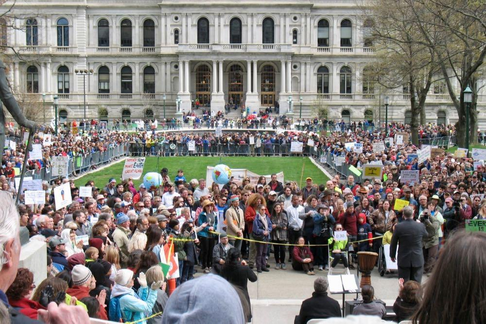 science march 2017 from behind speakers