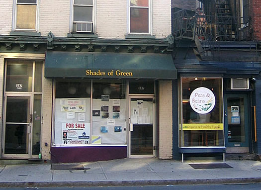shades of green closed exterior