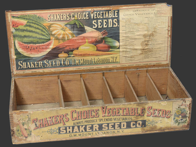 shaker seed display box credit New York State Museum