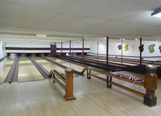 shelburne falls bowling alley interior