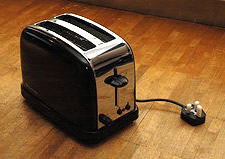 shiny unplugged toaster