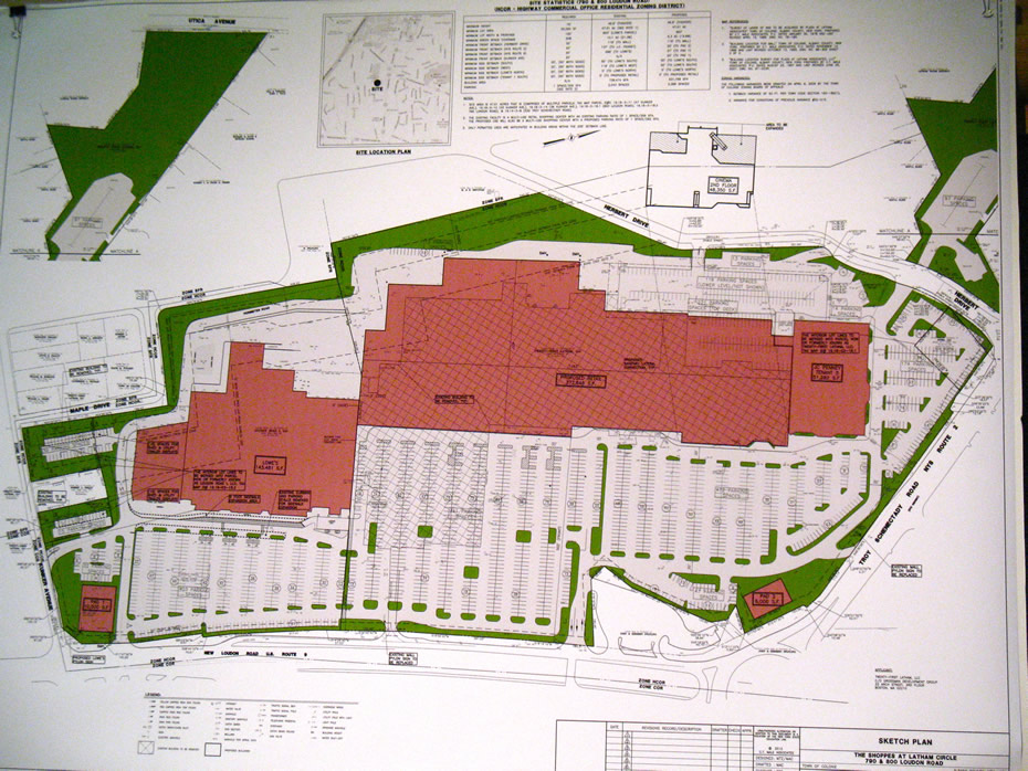 shoppes latham circle proposed plan
