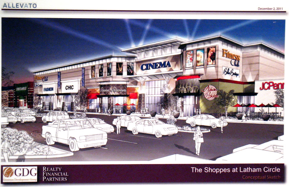 shoppes latham circle rendering