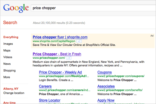 shoprite price chopper google ad