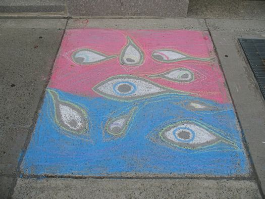 sidewalk art eyes