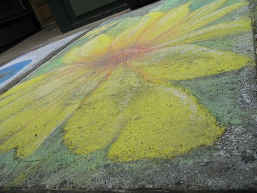 sidewalk art flower