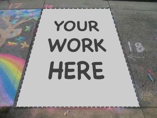 sidewalk art your work here