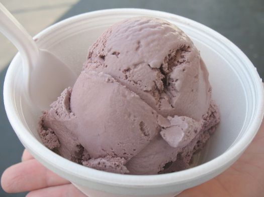 Snow Man black raspberry scoop
