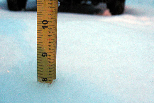 snowfall measure 2012-01-12