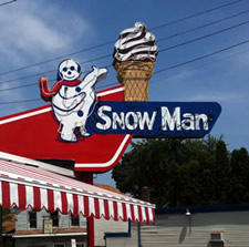 snowman sign troy