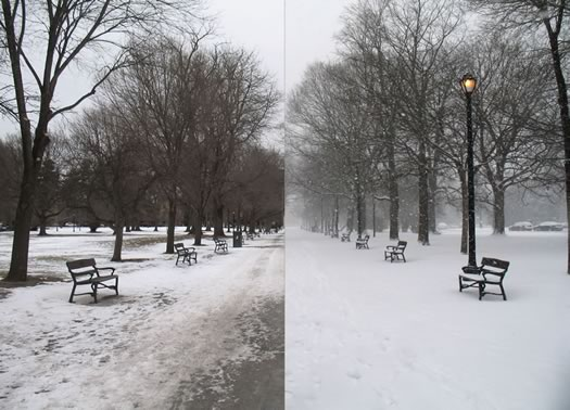 snowstorm 2015-01-27 before and after