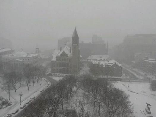 snowy downtown albany 2014-02-05