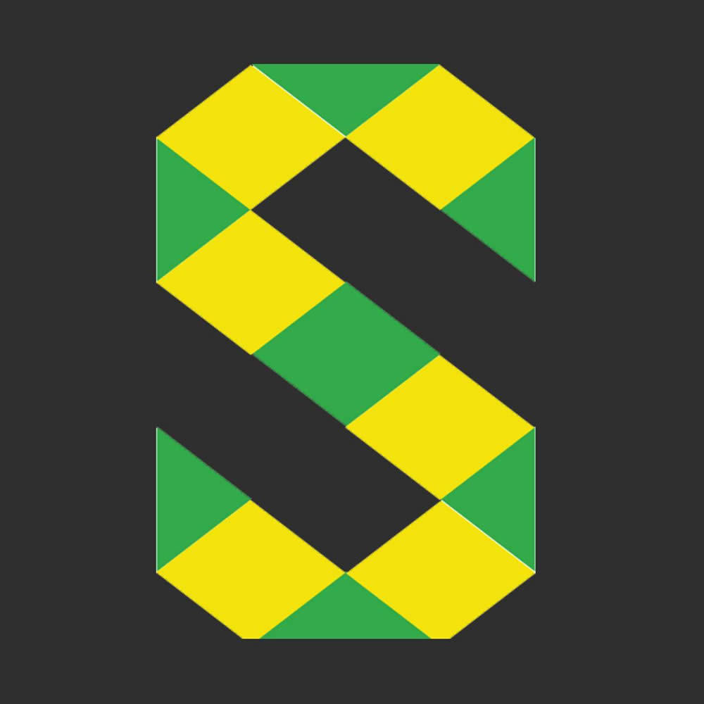 solid sound logo green yellow slate background