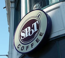 spot coffee sign