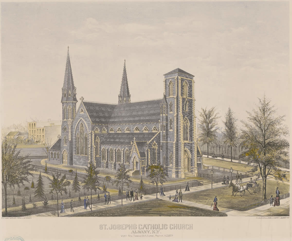 st joseph's church albany 1879 illustration