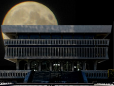 state museum moon photo illustration
