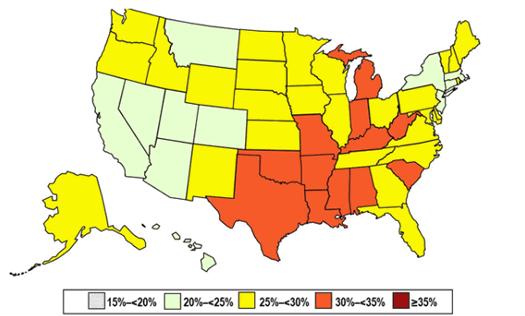 state obesity cdc brfss 2011