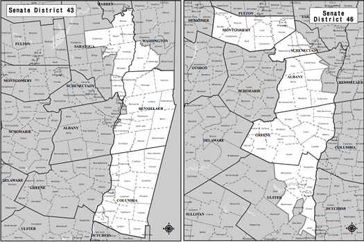 state senate 43 and 46 district maps