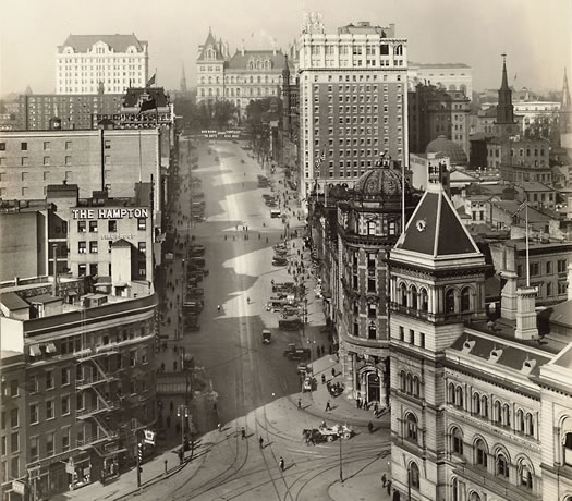 state street albany 1917 via Albany Institute cropped