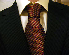 suit tie collar closeup