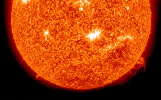 sun large solar flare