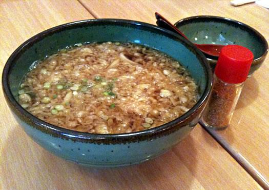 Sushi Tei tanuki udon soup