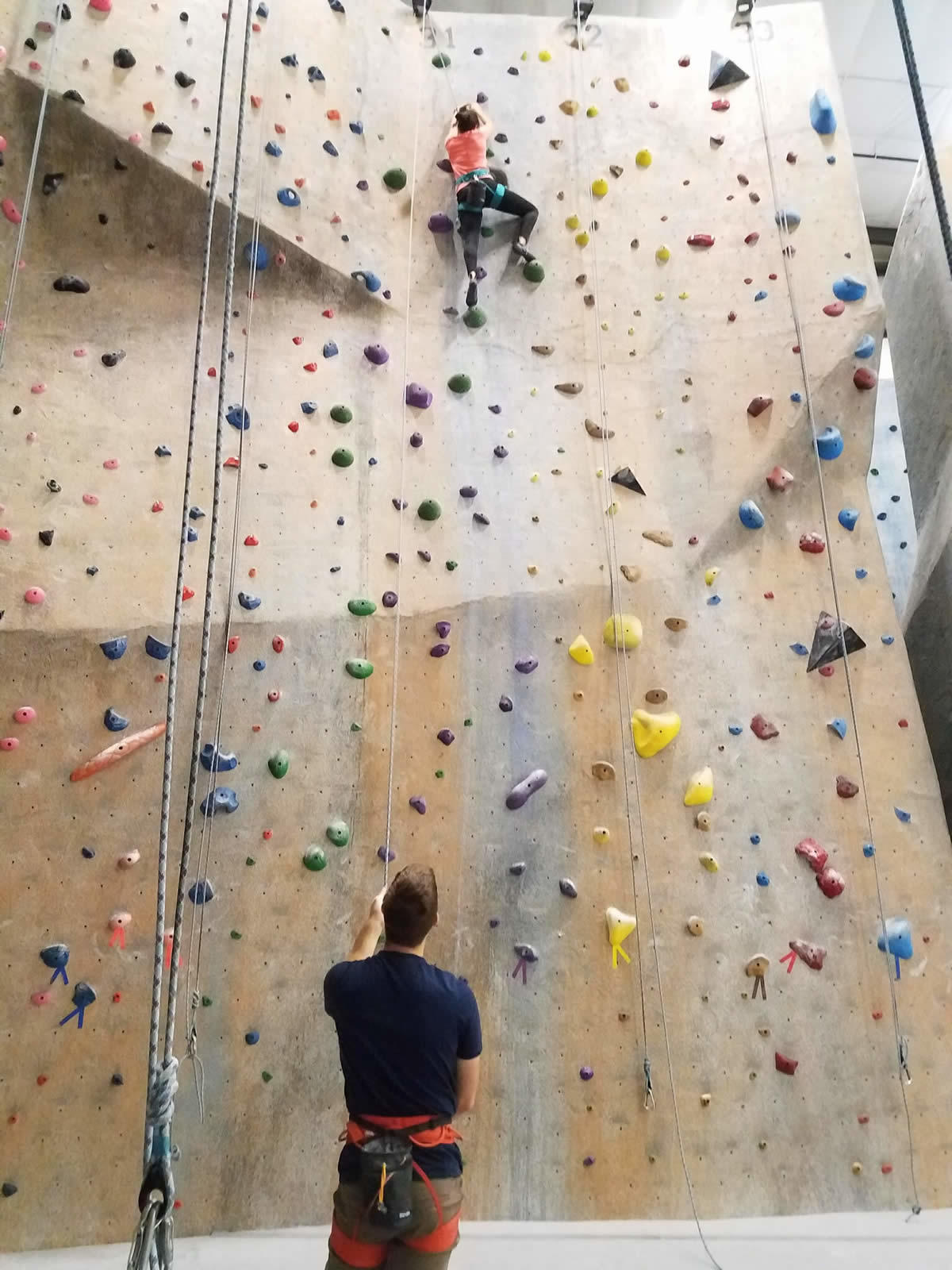 tall rock climbing wall