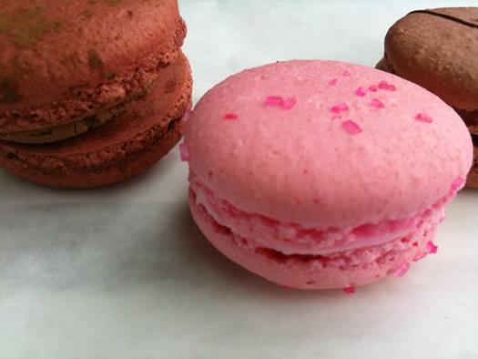pink macaron closeup tc bakery