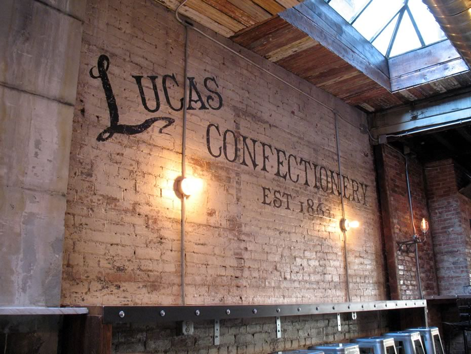 the confectionery interior mural